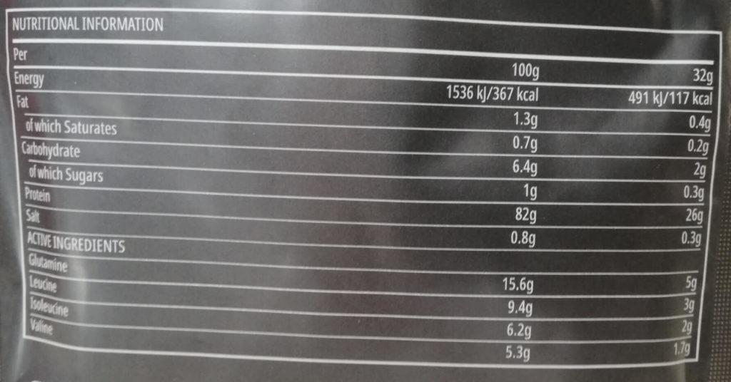 マイプロテインthe wheyプラスストロベリーミルクシェイク栄養成分