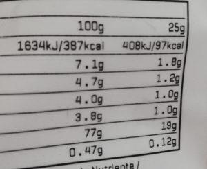マイプロテインミルクティー味栄養成分