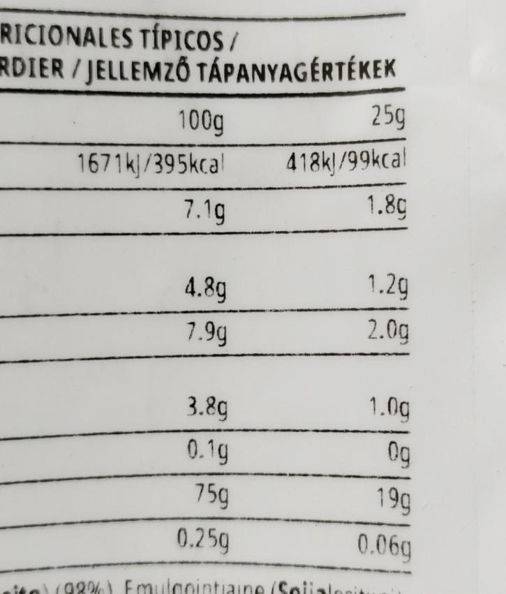 ストロベリークリーム味栄養成分
